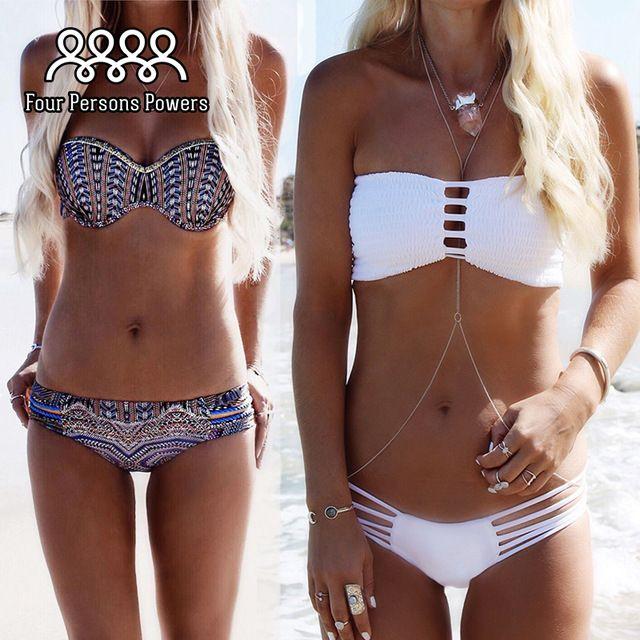 Costumi da bagno Bikini Push Up Bikini Brasiliano Sexy Fasciatura Beach Swimwear Delle Signore Costume Da Bagno Costume Da Bagno Maillot De Bain NK08