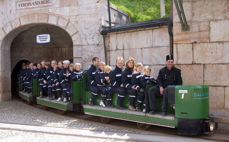 Erlebnisbergwerk Salzbergwerk Berchtesgaden SalzZeitReise.  Salt mine tour.  We took this in 1989, forty years after our mom took the sme tour.
