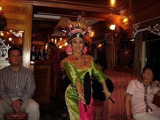 Thai Lady Entertainer on the Eastern and Oriental Express