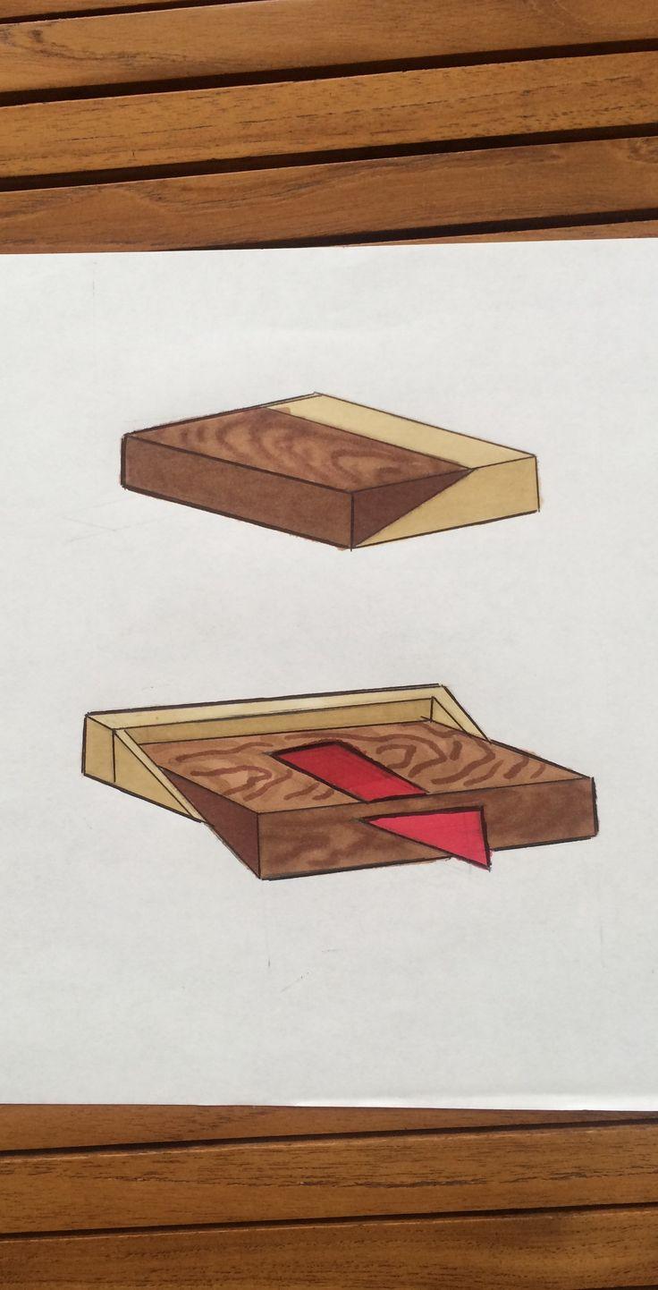 Objeto 2 funciones. Técnica madera.