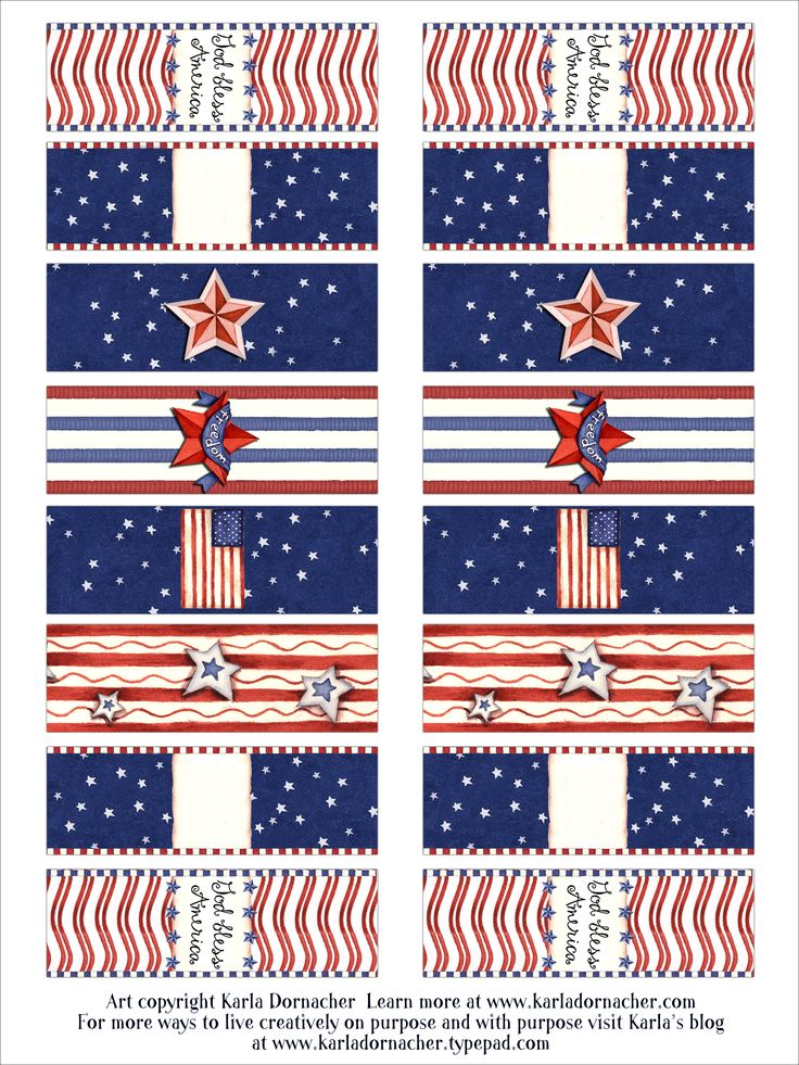4th of July Candy Wrappers: Candy, Twelve Of, De Envoltórios, Envoltórios De