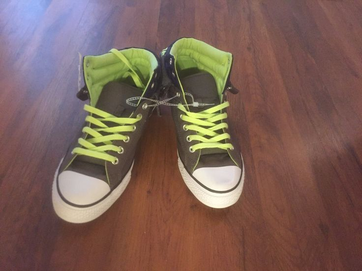 CONVERSE ALL STAR CHUCK TAYLOR MEN SHOES CHARCOAL/GREEN 139639F SIZE 9.5 NEW