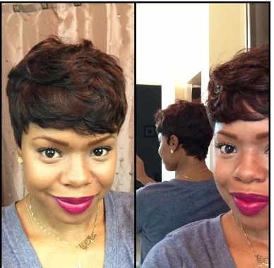 cute work hairstyles : Sew in short cut. Protective style Hairstyles.... Pinterest