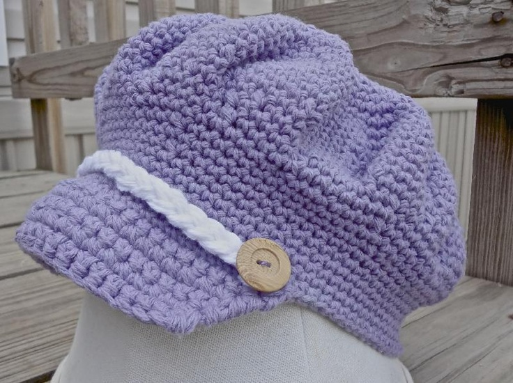 Newsboy Cap - I've had this in my crochet folder for quite some time.  I think it's really cute.