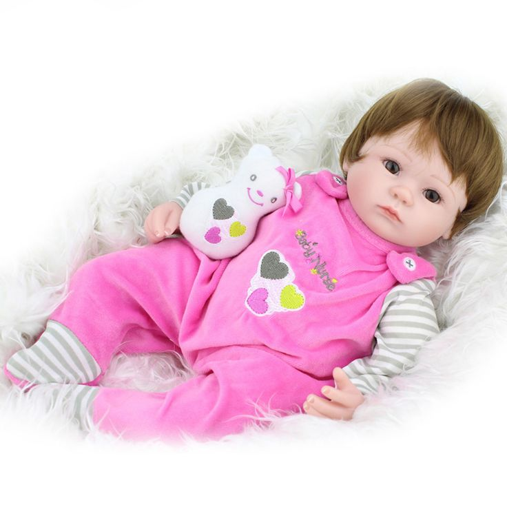 45cm Silicone reborn baby doll toys for girl lifelike 45cm reborn babies play house toy kids child birthday gift girl