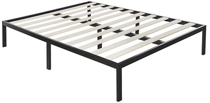 """Zinus Modern Studio 14/"""" Platform Metal Bed Frame//Mattress Foundation Queen Size"""