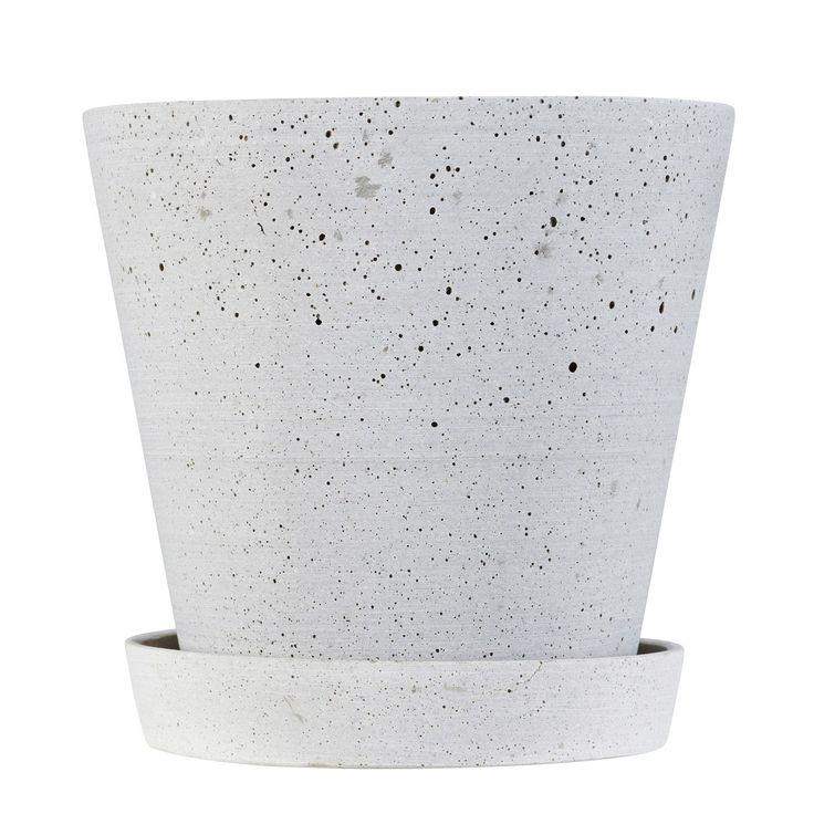 Flower Pot krukke M, grå i gruppen Indretningsdetaljer / Dekoration / Vaser & Krukker hos ROOM21.dk (124396)