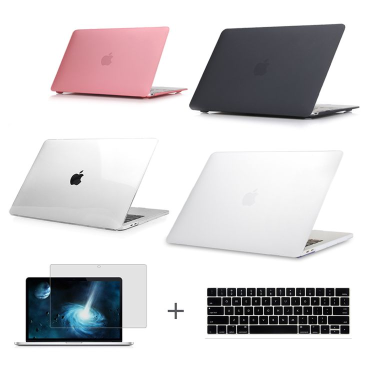 For New MacBook Pro 13 15 Case 2016 model A1706 A1707 with touch Bar & A1708 without touch bar Clear Crystal Matte Hard Case