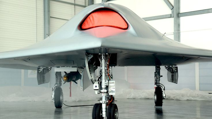 Europe's First Stealth Drone Looks like an Angry Cyborg