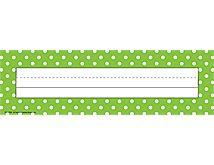 Lime Polka Dot Name Plates