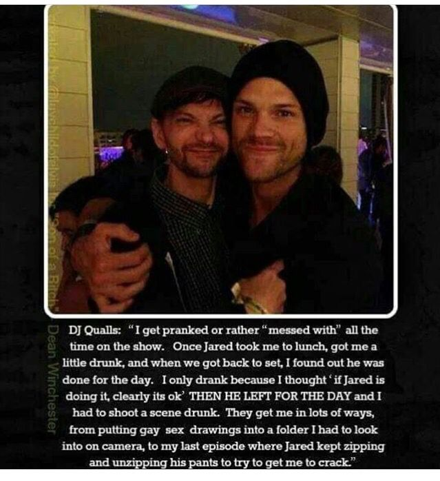 It's so sweet when he looks so little because of Jared