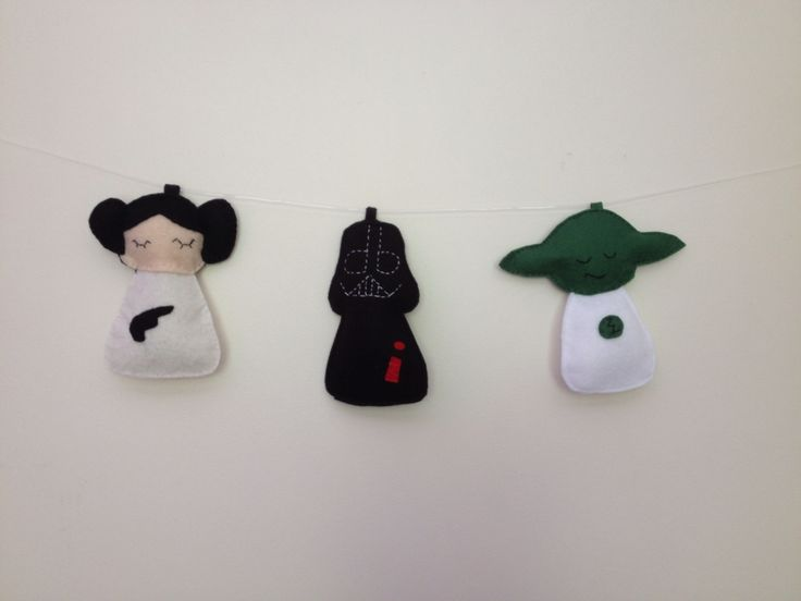 Star Wars plush garland available on:https://www.etsy.com/shop/StickandOopel