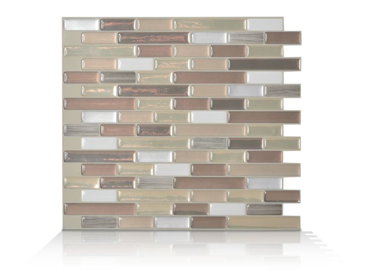 Smart Tiles Muretto Durango In Peel And Stick Mosaic Decorative Wall Tile Backsplash In Beige The Home Depot