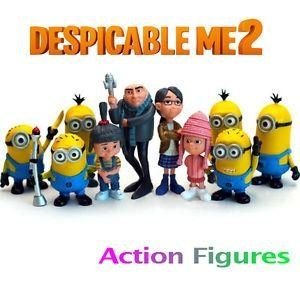 New Set of 10pcs 2 Cute Movie Character Figures Minions Doll Toy @ niftywarehouse.com #NiftyWarehouse #DespicableMe #Movie #Minions #Movies #Minion #Animated #Kids