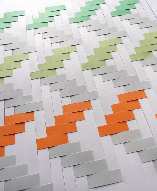 Make a Woven paper Artwork | Crafttuts. It's paper but would also be cool as a quilt.