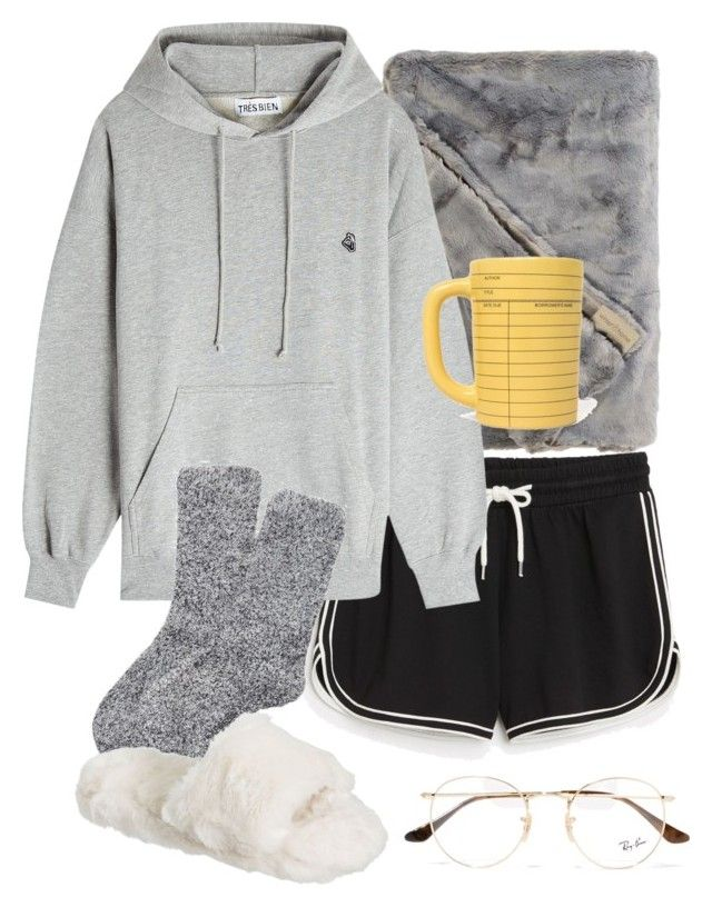 """lazy day"" by ksasya on Polyvore featuring Monki, Très Bien, Express, PBteen and Ray-Ban"
