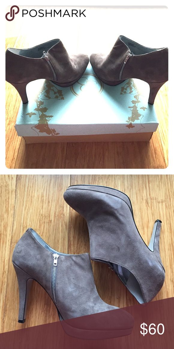 Beautiful Jessica Simpson Ankle Booties These gorgeous taupe suede Jessica Simpson booties are extremely versatile and comfortable. Barely worn in great condition! They will be a great all season bootie to add to your collection! Jessica Simpson Shoes Ankle Boots & Booties