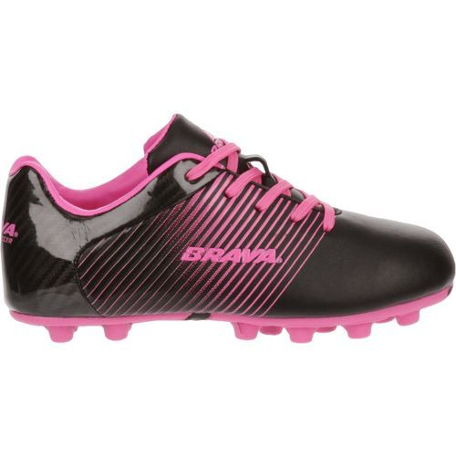 Brava Soccer Girls' Racer Cleats (Black/Bright Pink, Size 2.5) - Youth Soccer Shoes at Academy Sports