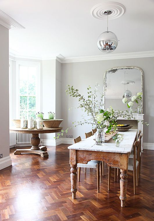 Dinning Room with White walls