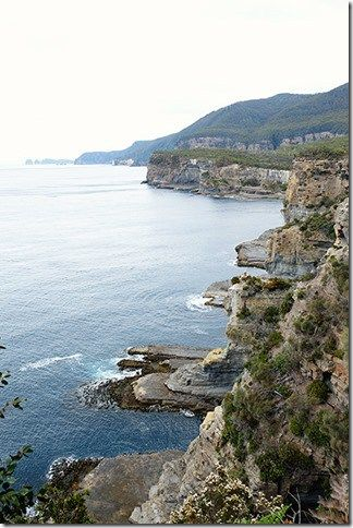 The awesome lookout over the Tasman Peninsula from the walk around Tasman Arch - Tasmania, Australia! Click the photo for more info.