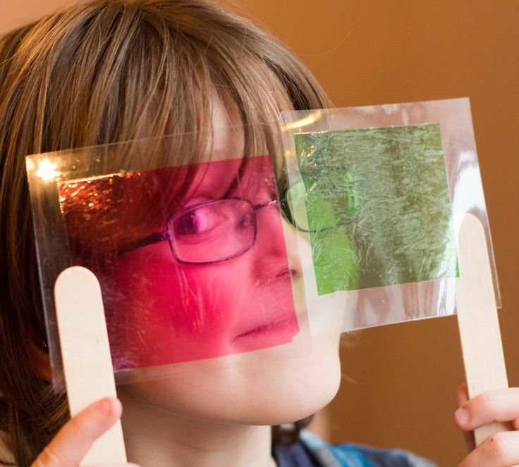 Sweet Wrapper Science - exploring light and colour