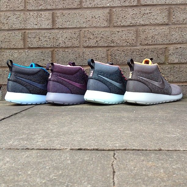 """sizeofficial: """"Nike Roshe Run Mid 'City Series' are in stores now and will  be online in the very near future!"""
