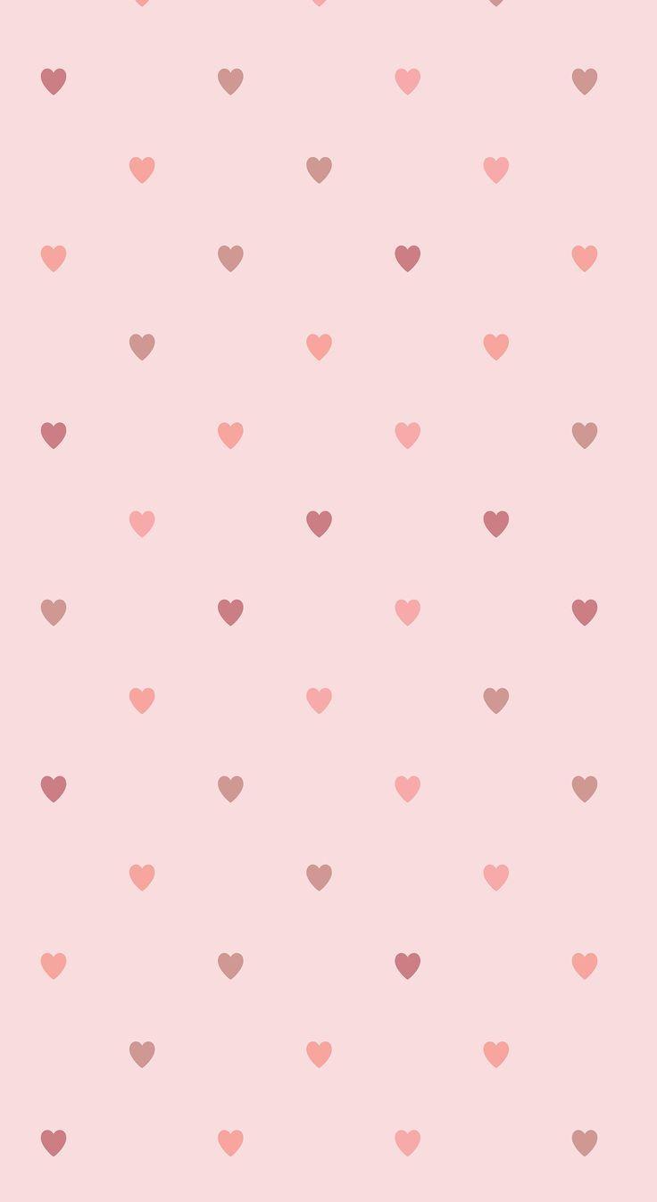 Wallpaper Hello Kitty Pink Cute Minimalist Heart Phone Background Minimalist Heart Phone