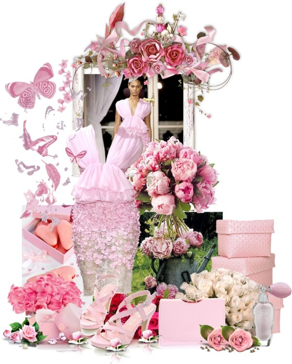 """rose blossom"" by donnaelvira ❤ liked on Polyvore"