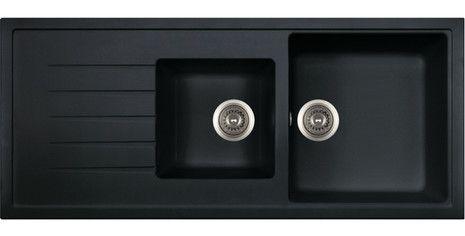 POLKA Hansloren zlewozmywak granitowy 2 komory z ociekaczem 500x1160 czarny metalik - POCO-3WMD  http://www.hansloren.pl/Zlewozmywaki-granitowe/Zlewozmywaki-1-komorowe/HANSLOREN