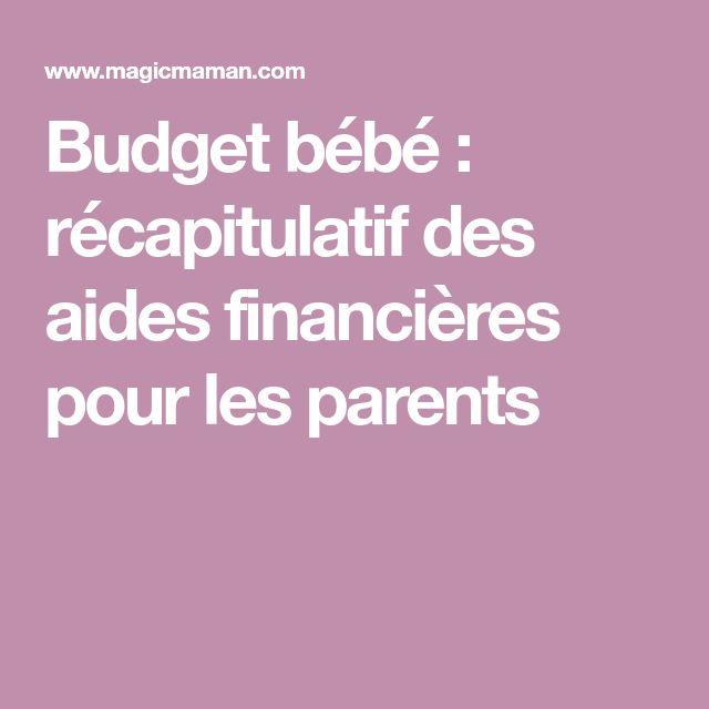 Budget bébé: récapitulatif des aides financières pour les parents