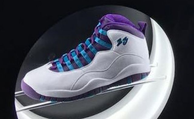 Look for the Air Jordan 10 Hornets to release on June 18, 2016 for a retail price of $190.