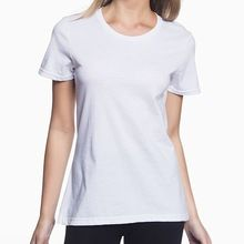 OEM solid color custom wholesale 100% cotton women t shirt with your company logo