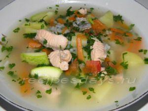 диетический суп с лососем