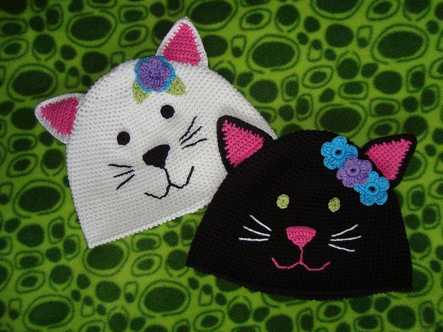 Kitty Cat Hat-free pattern by Woollywonderstuff                                                                                                                                                                                 More