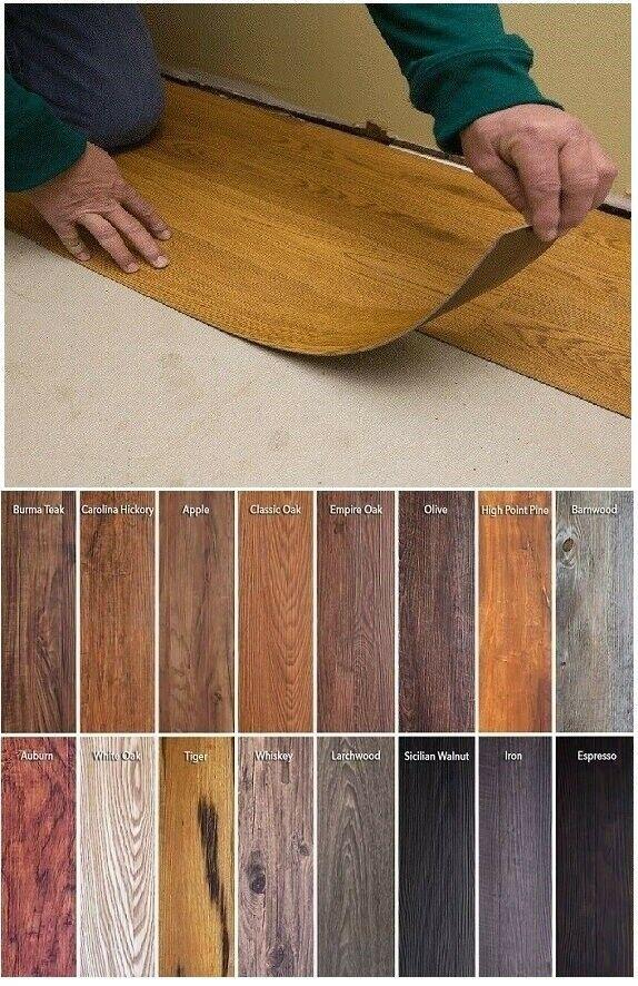 Vinyl Floor Planks 10 Pack Sticky Flooring Luxury Like Real Wood Peel Stick Tile In 2020 Vinyl Flooring Vinyl Wood Flooring Plank Flooring