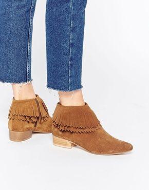Светло-коричневые ботинки с бахромой в стиле вестерн Faith Swift
