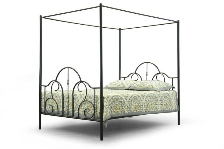 Baxton Studio Monticello Metal Queen-Size Canopy Bed