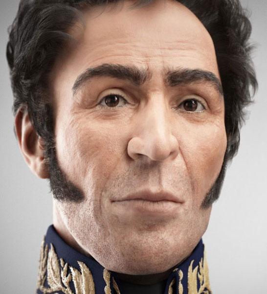 Así era el Libertador Simón Bolívar: Este martes el presidente de Venezuela, Hugo Chávez, reveló la primera foto digital que muestra el rostro real del Libertador Simón Bolívar, reconstruida con motivo del 229 aniversario de su natalicio