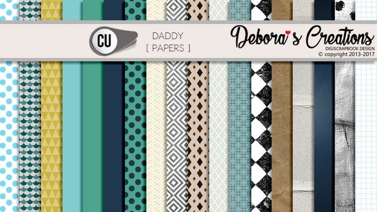 Daddy Papers by Debora's Creations CU