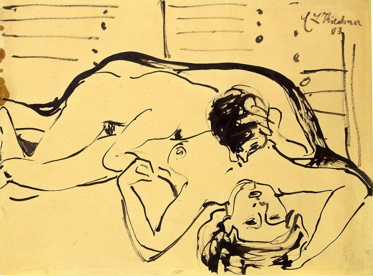 Lovers by Ernst Ludwig Kirchner 1909