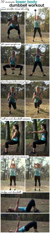 30 Minute Lower Body Dumbbell Tabata