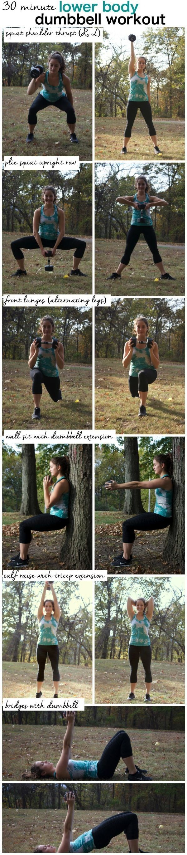 30 Minute Lower Body Dumbbell Tabata