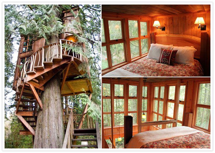 Glamping Honeymoon Treehouse Point B And B Pinterest