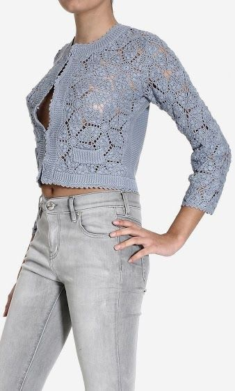 Outstanding Crochet: Cardigan     ♪ ♪ ... #inspiration_crochet #diy GB http://www.pinterest.com/gigibrazil/boards/