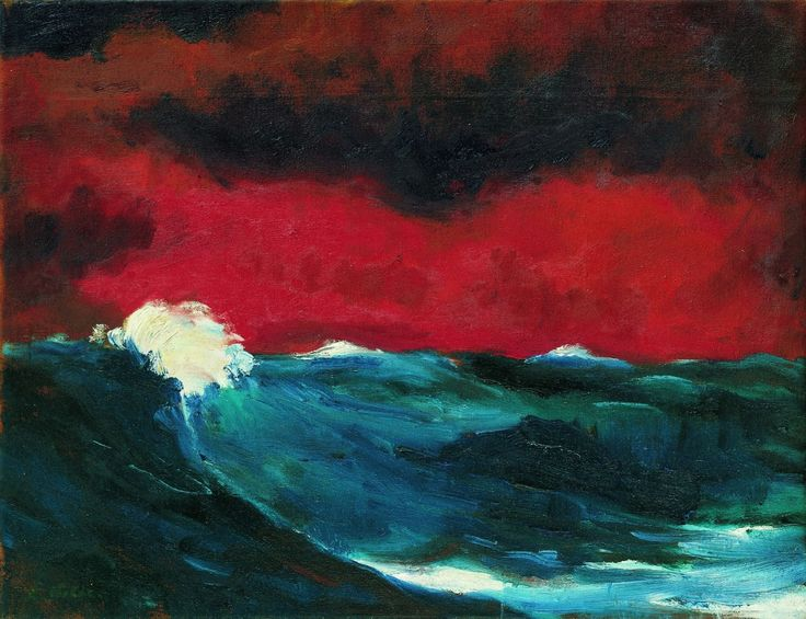 Emil Nolde (German-Danish, 1867 - 1956) Sea (I), 1947.                                                                                                                                                                                 More