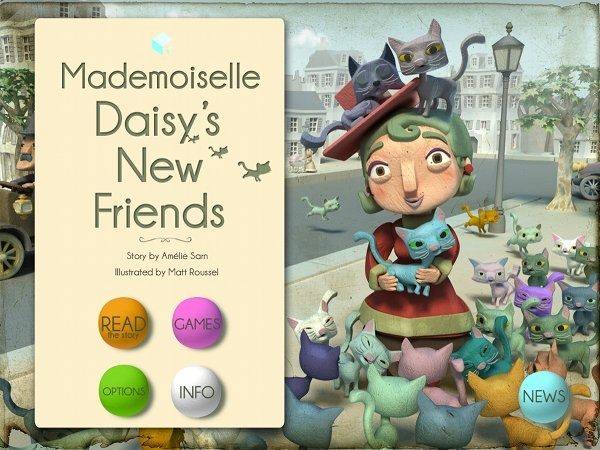 Mademoiselle Daisy's New Friends. Beautiful illustrations, narrated in an Aussie accent (yay). #kids_apps, #app, #children Via Babyology.