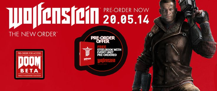 Wolfenstein exclusive steelbook with every pre-order.