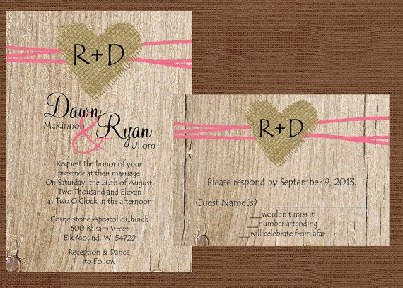 Burlap Wedding Invitations Diy: Best 20+ Burlap Wedding Invitations Ideas On Pinterest