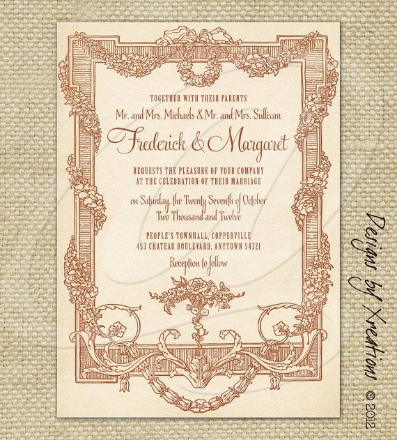 52 best Victorian InvitationsCards images on Pinterest