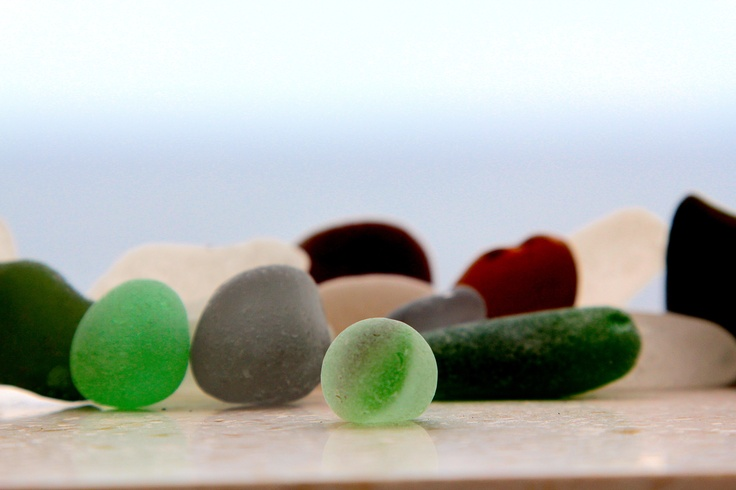 Sea glass from Milna Hvar in Croatia Aug 2012
